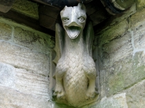 Picture of Red Dragon Gargoyle Llangadwaladr Church