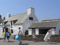Picture of Whitewashed Cottages in Welsh Village